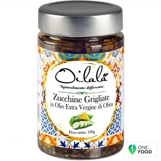 Zucchine In Olio Extra Vergine Di Oliva 1 X 190 G